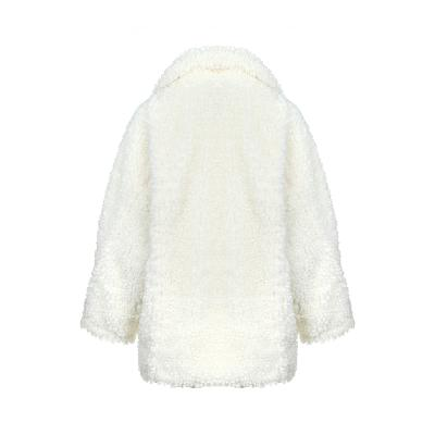 soft texture coat white